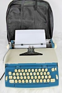 Vintage Smith Corona Seventy Electric Typewriter Series 6e Blue Cream 1970