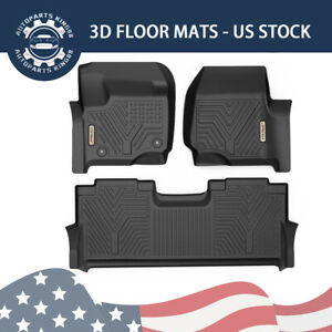 Floor Mats Liners For 2017 2019 Ford F 250 f 350 Super Duty Crew Cab All Weather