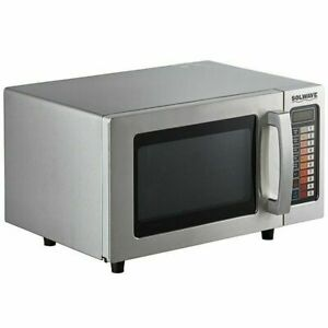Microwave Oven Stainless Steel Commercial With Push Button Controls 120v 1000w