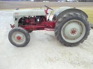 Ford 8n Tractor 3pt Hitch Pto 11 2 X 28 Tires Runs Good 12v System Grill Guard