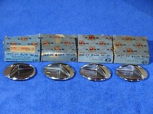 1951 1952 Buick Special Super Front Fender Port Hole Ornaments Nos