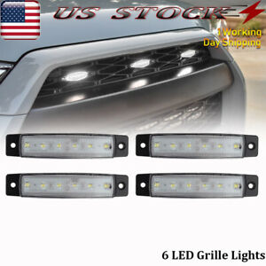4x Universal 38 In White Led Grille Lights Grill 12v Surface Mount Fits 1955 Ford