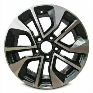 Set Of 2 Aluminum Wheel Rim 16 Inch For 2013 2015 Honda Civic Black Machine Face