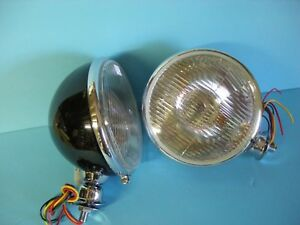 King Bee Style Headlights Painted W Signals 1928 1929 1931 1932 1933 1934 Ford