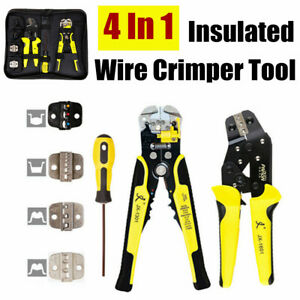 2020 Professional Wire Crimpers Ratcheting Terminal Crimping Pliers Stripper Us