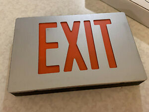 New Emergi lite Bapxnr1 Aluminum Led Exit Sign Red Single sided 120 277 Vac
