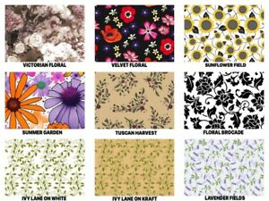 Floral Print Gift Tissue Paper Sheets 15 X 20 Choose Print Package Amount
