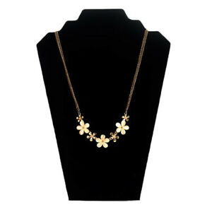 Black Velvet Necklace Display Stands Pendant Chain Jewelry Bust Holder Rack