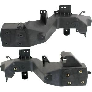 Headlight Bracket Set For 2011 2013 Jeep Grand Cherokee Left And Right Black 2pc