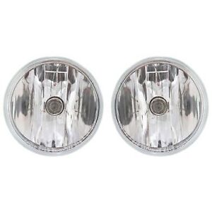 Fog Light Set For 2007 2014 Chevrolet Tahoe 2015 17 Silverado 2500 Hd Front 2pc