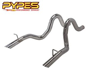 1987 1993 Ford Mustang Lx 5 0 Pypes Stainless 3 Exhaust Tailpipes Pair