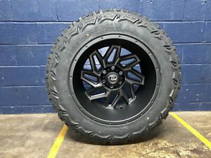 20x12 Vision Spyder 33 Mt Wheels Rims Tires Package 8x170 Ford Excursion