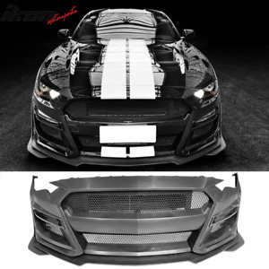 Fits 18 20 Ford Mustang Gt500 Style Front Bumper Cover Replacement Pp