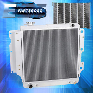 For 87 06 Jeep Wrangler Yj Tj Tri Core 3 Row Aluminum Racing Cooling Radiator