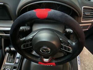 Mickey Mouse Disney Car Truck Steering Wheel Cover Black Fabric proud