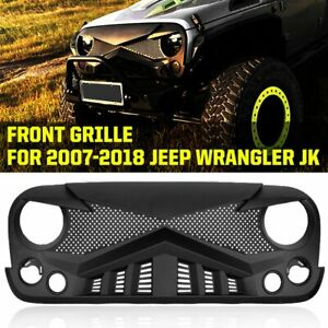 New Style Offroad Front Grille Guard Mesh Grill For 2007 2018 Jeep Wrangler Jk