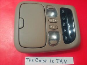 Oem 01 07 Toyota Sequoia Overhead Console Display Sunroof Switch Dome Light Tan