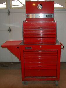 Vintage Snap on Toolbox Set Chest Rolling Cab With Side Tray Kr533a Kra300d