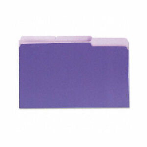 Universal Interior File Folders 1 3 cut Tabs Legal Size Violet 100 box