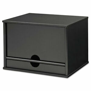 Midnight Black Collection Desktop Organizer 13 3 10 X 10 1 2 X 9 1 5 Wood