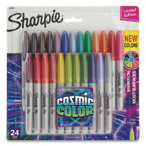 Cosmic Color Permanent Markers Medium Bullet Tip Assorted Colors 24 pack