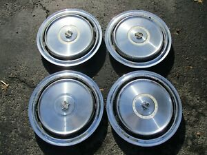 Genuine 1971 To 1973 Buick 15 Inch Hubcaps Wheel Covers