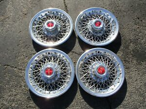 1978 To 1987 Pontiac Grand Prix Lemans Wire Spoke 14 Inch Hubcaps Wheel Covers