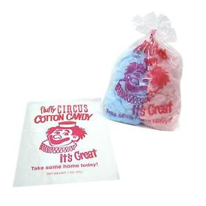 Gold Medal Plastic Cotton Candy Bags 1 000 Ct