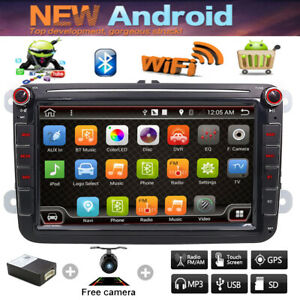 8 Android 8 1 2 Din Sd Car Stereo Radio Gps Player For Vw Volkswagen Golf Jetta
