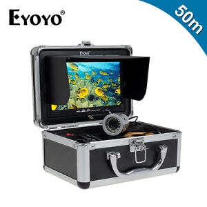 Eyoyo Underwater 50M Fish Finder Fishing Camera 7 Inch LCD Monitor+Light Control