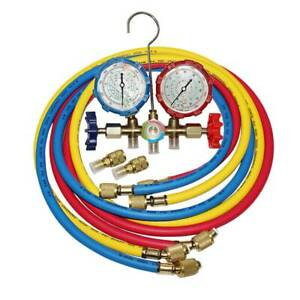 R410a Dual Manifold Gauge Set Ac 4 9 Ft Color Hoses Air Conditioner Hvac 59 Us