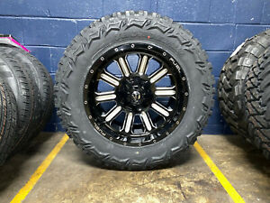 20x10 Fuel Hardline 35 Mt Wheels Rims Tires Package 8x170 Ford Super Duty F250