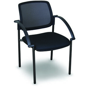 Marvel Mesh Stackable Visitor Chair With Arms 24 25 w X 24 75 d X 32 25 h Blac