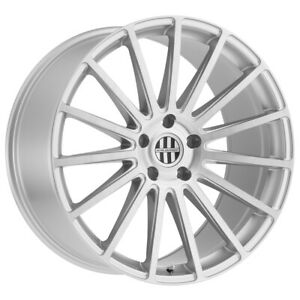 4 Victor Equipment Sascha 19x9 5x112 22mm Silver Brushed Wheels Rims