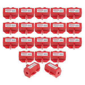 Pack Of 20 Red Electrical Plugs Lockout Device Tool Recycled Plastic Made