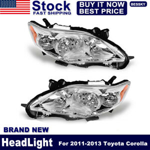 For 2011 2012 2013 Toyota Corolla Replacement Headlights Headlamps Left right Us