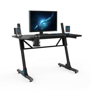 25 33 Office Height Adjustable Racing Gaming Table W cup Holder Led Light Desk