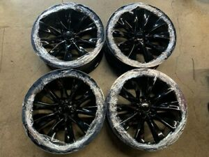 Four 2019 Tesla X Factory 20 Wheels Oem Rims New Gloss Black Model S