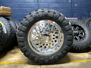 20x10 Cali Switchback Polished 35 Fuel Mt Wheels Tires 8x170 Ford Excursion