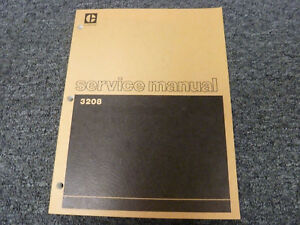 Caterpillar Cat 3208 Marine Engine Shop Service Repair Manual S n 1z