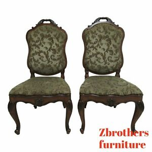 Pair Henredon French Empire Dining Room Side Chairs A