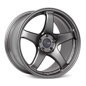 Enkei Pf05 18x10 Racing Wheel Wheels 5x114 3 Dark Silver
