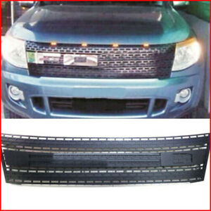 Black Plastic Front Grille Grill Yyffo For Ford Ranger T6 2012 2014
