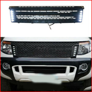 Plastic Vent Hole Front Grill Grille Led For Ford Ranger T6 2012 2014