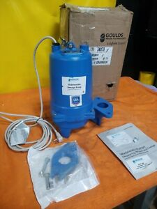 New Goulds Ws0512bf 1 2hp Submersible Sewage Pump 230 Vac 1 Phase 5nxt9