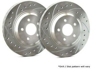 Sp Rear Rotors For 1998 Mustang Svt Cobra Drilled Slotted F54 036 P4529