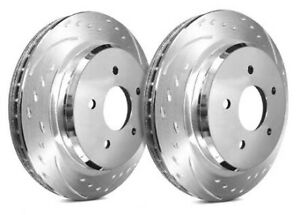 Sp Performance Rear Rotors For 2001 Mustang Svt Cobra Diamond D54 036 P5396