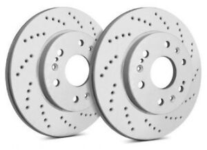 Sp Performance Rear Rotors For 2001 Mustang Svt Cobra Drilled Zrc C54 0366070