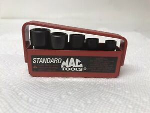 Mac Tools 5pc Mup 1 4 12 Point Impact Swivel Socket Set 1 4 To1 2 W Nice Case