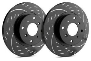 Sp Rear Rotors For 2001 Mustang Svt Cobra Diamond Black D54 036 Bp8524